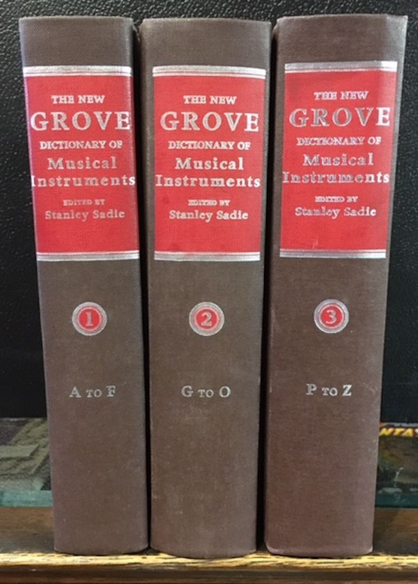 THE NEW GROVE DICTIONARY OF MUSICAL INSTUMENTS. (3 Volumes). Stanley Sadie.