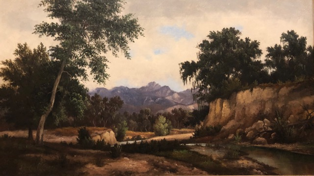 A TRAIL IN MONTECITO (Original Oil Painting). Henry Chapman Ford.