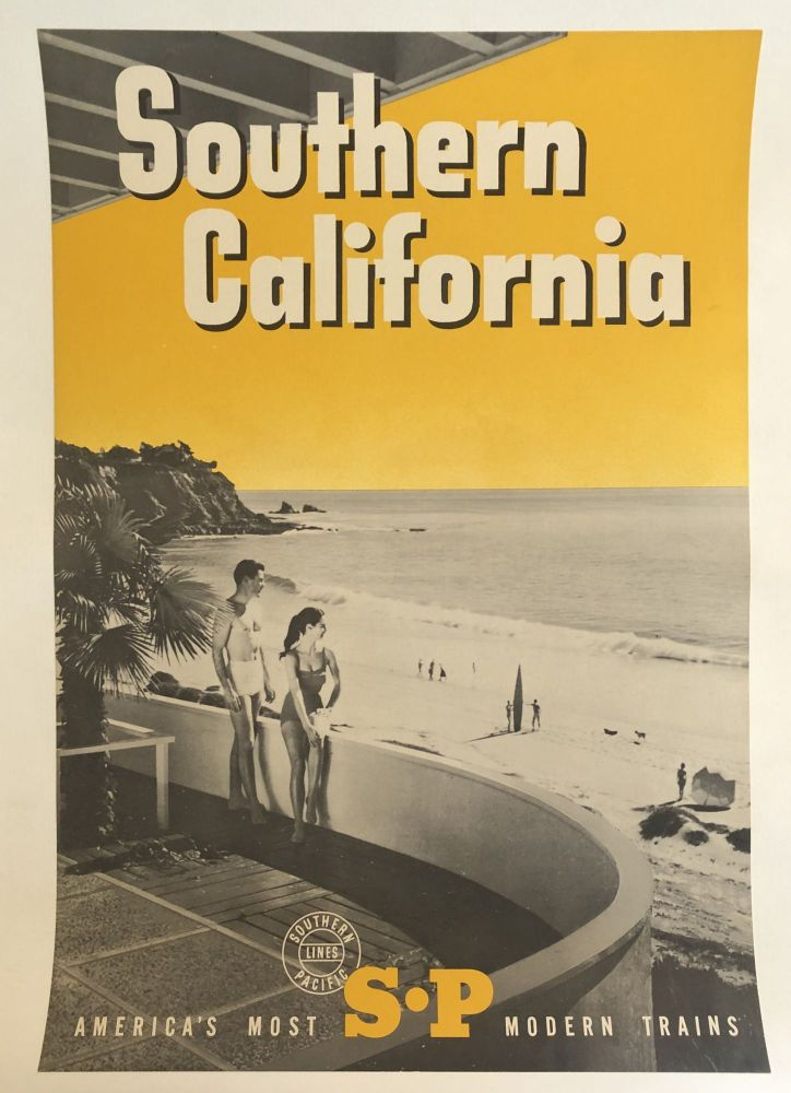 SOUTHERN CALIFORNIA. America's Most S-P Modern Trains. (Original Vintage Poster)