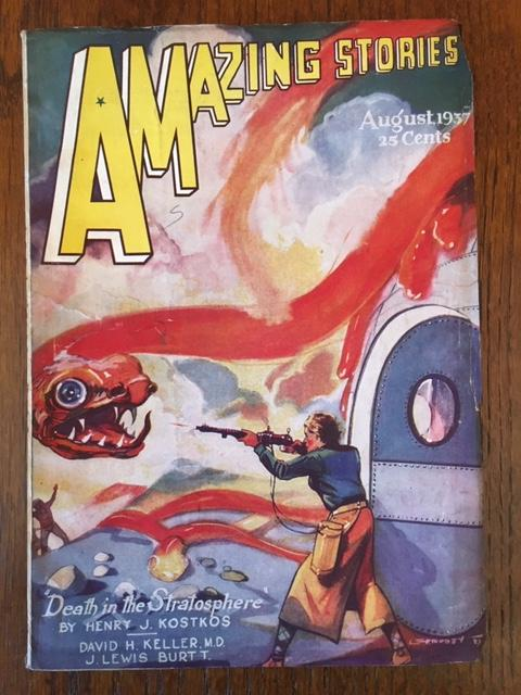 AMAZING STORIES. August 1937. (Volume 11, No. 4) T. O'Conor Sloane, Ed.