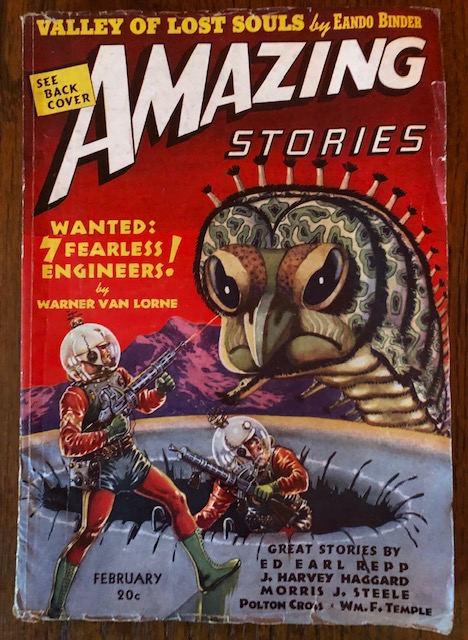 AMAZING STORIES. January,1939. (Volume 13, No. 2) B.G. Davis, editor