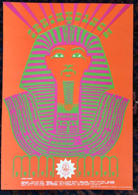 (Rock Poster) SPHINX DANCE. 1967. Family Dog Presents. Victor Moscoso.
