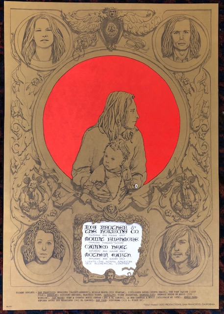 (Rock Poster). BIG BROTHER AND THE HOLDING CO. 1967. Family Dog Presents. Dennis Nolan.