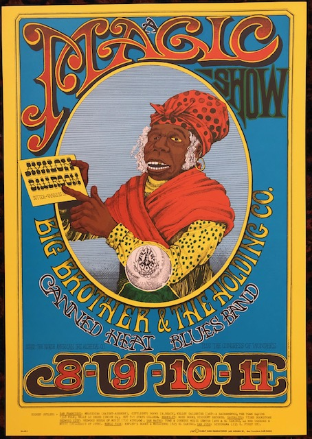 (Rock Poster). MAGIC SHOW. 1967. Family Dog Presents. Rick Griffin.