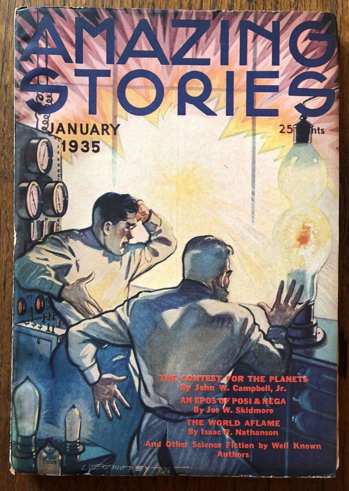 AMAZING STORIES. January, 1935. (Volume 9, No. 9) T. O'Connor Sloane, Phd. (Editor)