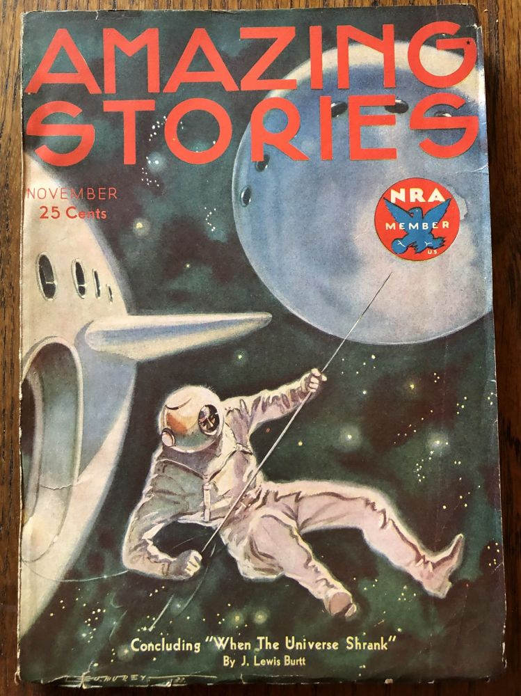 AMAZING STORIES. November, 1933. (Volume 8, No. 7) T. O'Connor Sloane, Phd. (Editor)