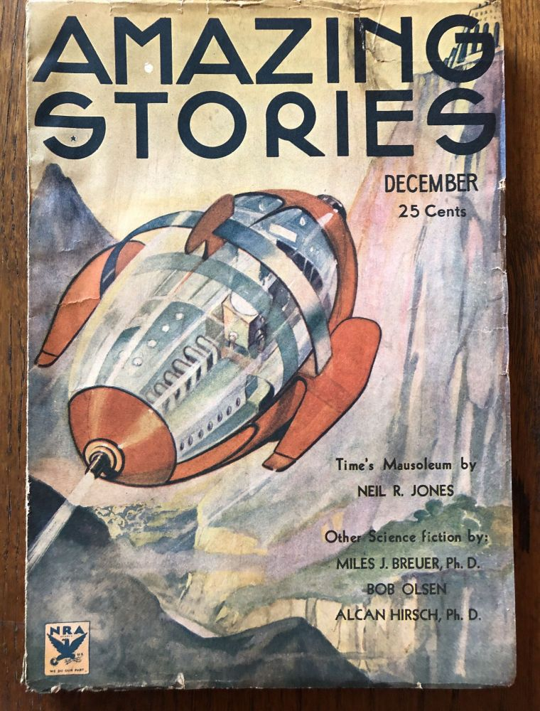 AMAZING STORIES. December, 1933. (Volume 8, No. 8) T. O'Connor Sloane, Phd. (Editor)