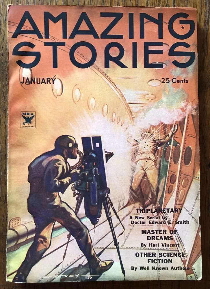AMAZING STORIES. January, 1934. (Volume 8, No. 9) T. O'Connor Sloane, Phd. (Editor)