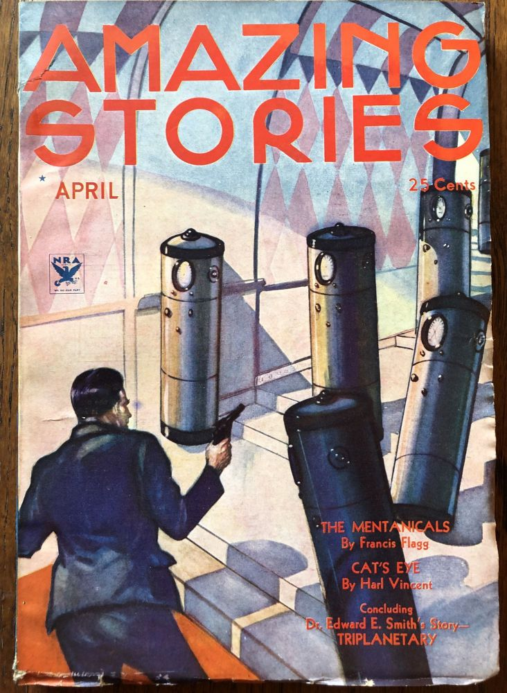 AMAZING STORIES. April, 1934. (Volume 8, No. 12) T. O'Connor Sloane, Phd. (Editor)
