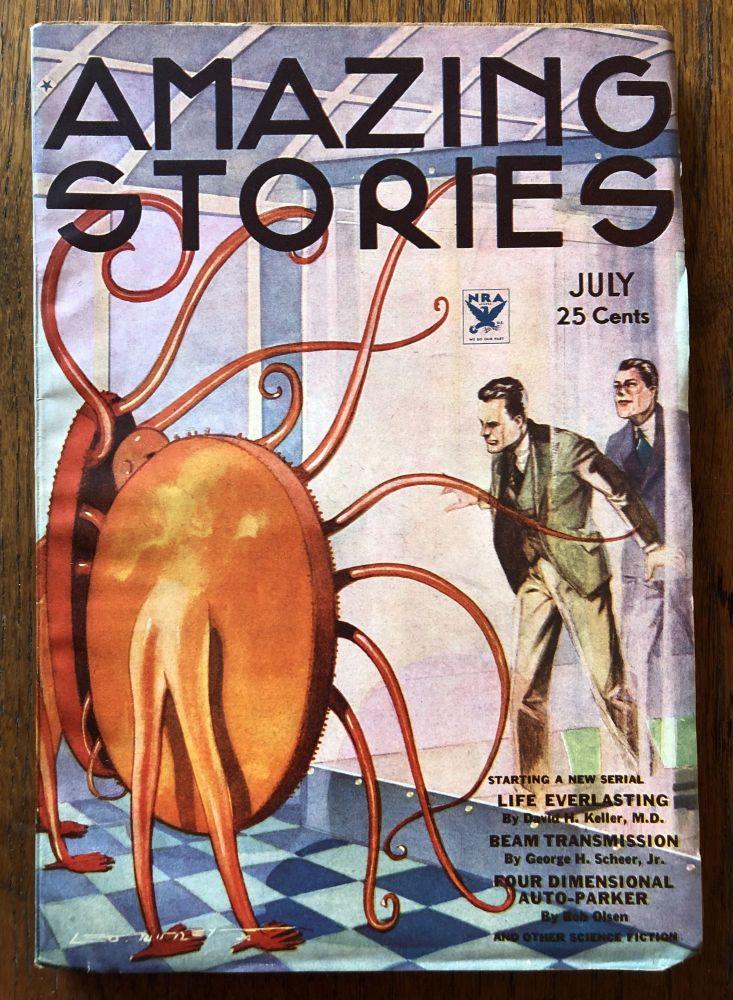 AMAZING STORIES. July, 1934. (Volume 9, No. 3) T. O'Connor Sloane, Phd. (Editor)