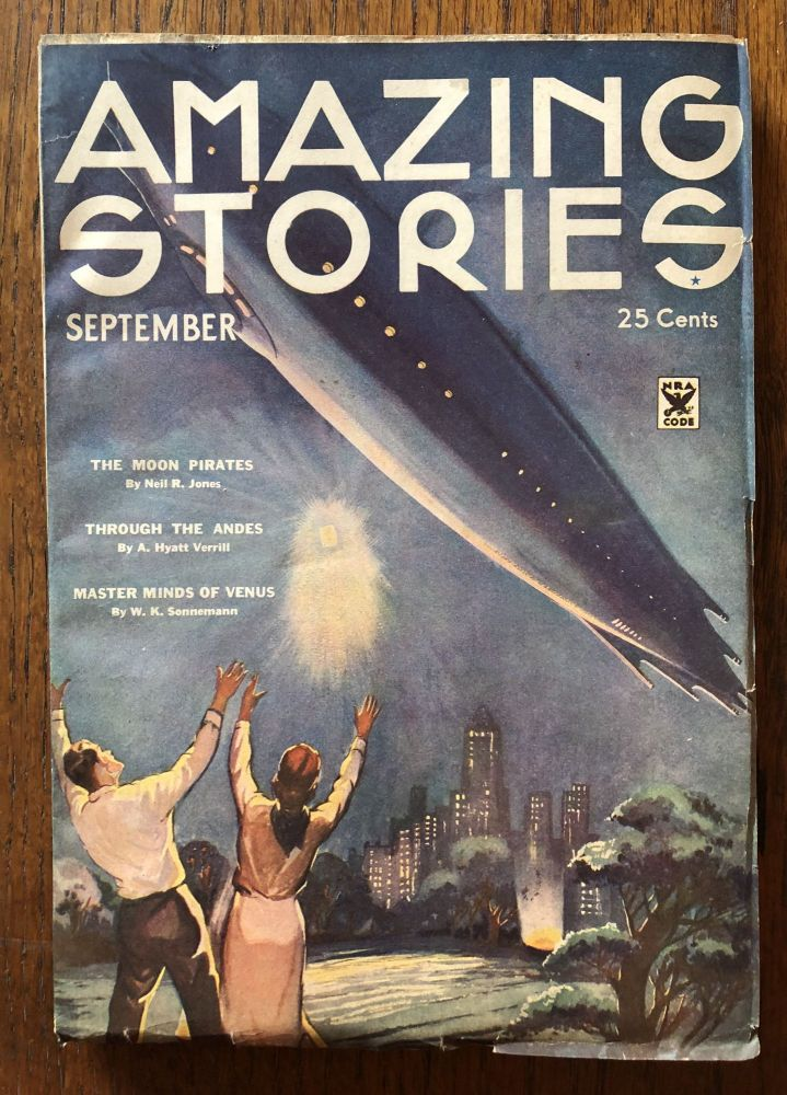AMAZING STORIES. September, 1934. (Volume 9, No. 5) T. O'Connor Sloane, Phd. (Editor)