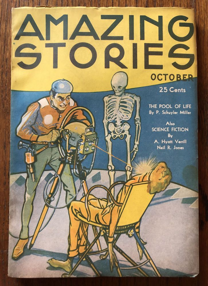 AMAZING STORIES. October, 1934. (Volume 9, No. 6) T. O'Connor Sloane, Phd. (Editor)