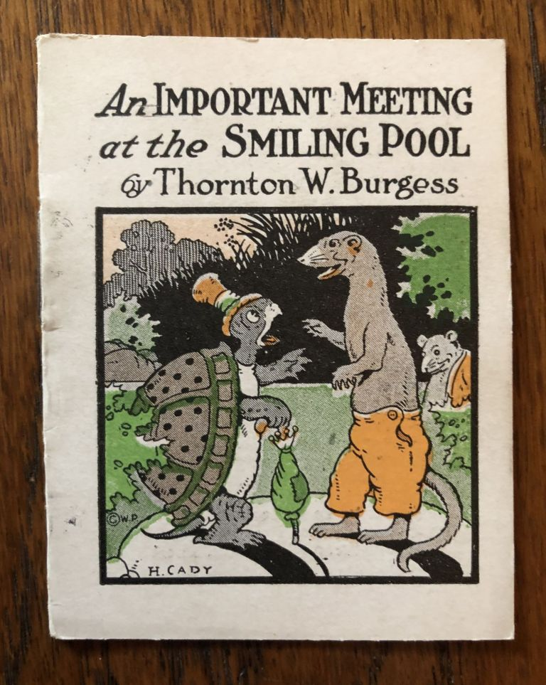 AN IMPORTANT MEETING AT THE SWIMMING POOL. (from The Bed Time Stories series). Thornton Burgess.