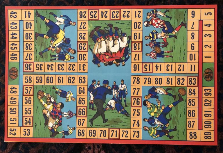 RUGBY BOARD GAME / POSTER.