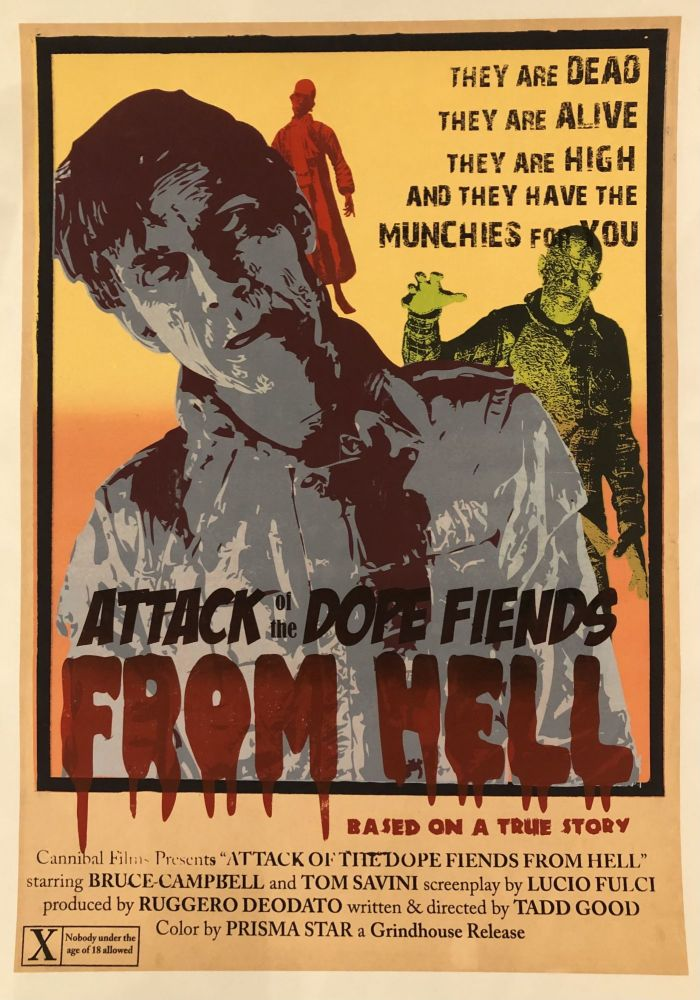 ATTACK OF THE DOPE FIENDS FROM HELL. (Original Vintage Movie Poster)