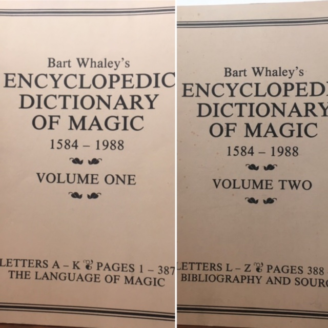THE ENCYCLOPEDIC DICTIONARY OF MAGIC 1584-1988. Bart Whaley.