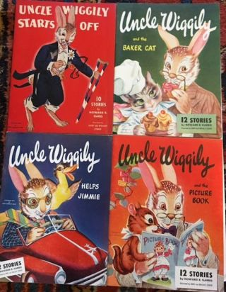 Uncle Wiggly Starts Off; Uncle Wiggly Helps Jimmie; Uncle Wiggly and the Baker Cat & Uncle Wiggly...