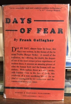 DAYS OF FEAR. Frank Gallager.