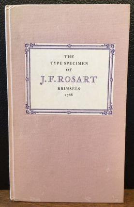 THE TYPE SPECIMEN OF JACQUES-FRANCOIS ROSART BRUSSELS 1768