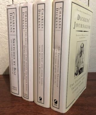 DICKEN'S JOURNALISM. The Dent Uniform Edition. (Four Volumes , Complete). Charles Dickens.