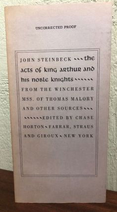 THE ACTS OF KING ARTHUR AND HIS NOBLE KNIGHTS. John Steinbeck.
