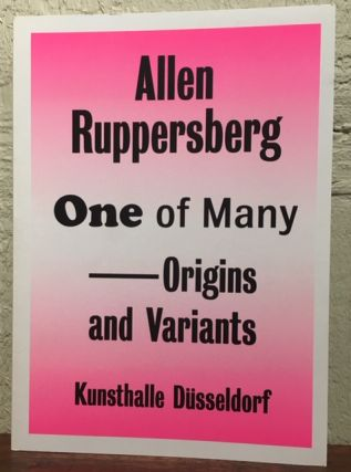 ONE OF MANY ORIGINS AND VARIANTS. Allen Ruppersberg
