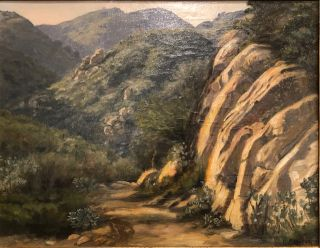 LA CUMBRE TRAIL, SANTA BARBARA (Original Oil Painting). Ludmilla Welch