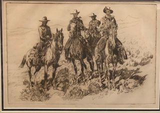 RANAHANS (Original, Signed Print). Edward Borein
