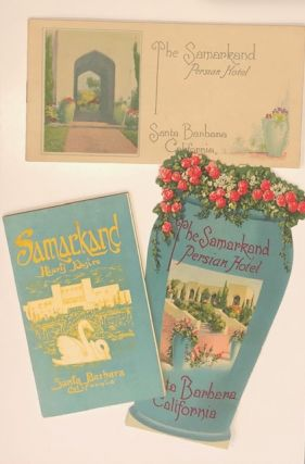 THE SAMARKAND PERSIAN HOTEL. Group of Ephemera