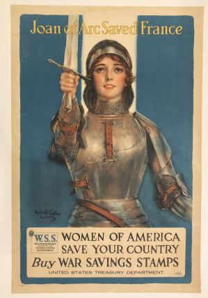 JOAN OF ARC SAVED FRANCE. Women of America Save Your Country, Buy War Savings Stamps. (Vintage...
