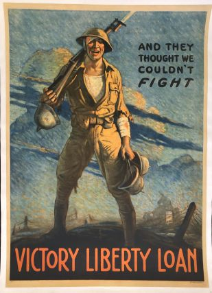 AND THEY THOUGHT WE COULDN'T FIGHT. Victory Liberty Loan. (Original Vintage Poster). Clyde Forsyth