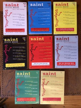 THE SAINT DETECTIVE MAGAZINE. 1954. (Eight issues, complete year). Leslie Charteris