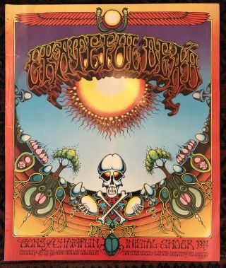 Rock Poster) GRATEFUL DEAD. Sons of Champlin, Intial Shock. January 24-25-26 1969. Rick Griffin