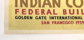INDIAN COURT. Golden Gate International Exposition. San Francisco. 1939. Pueblo Turtle Dancers From An Indian Painting (Original Vintage Poster)