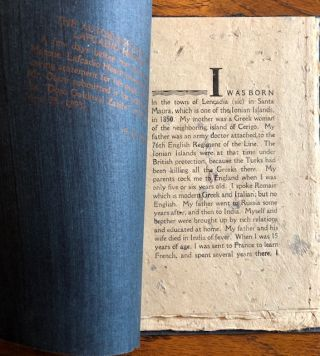 A CATALOGUE OF FIRST EDITIONS OF LAFCADIO HEARN. WITH AN AUTOBIOGRAPHICAL SKETCH.