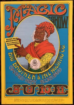 Rock Poster). MAGIC SHOW. 1967. Family Dog Presents. Rick Griffin