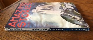 AMAZING STORIES. October, 1933. (Volume 8, No. 6) T. O'Connor Sloane, Phd. (Editor)