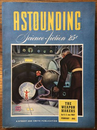 ASTOUNDING SCIENCE FICTION. February, 1943. Campbell, Jr., John W. (Editor