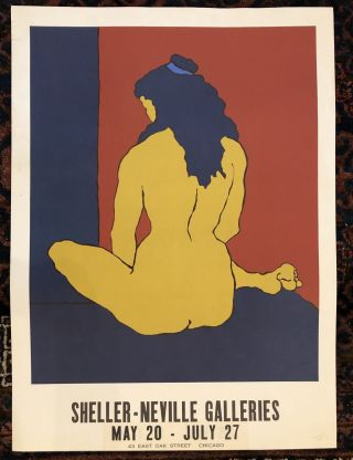 SHELLER-NEVILLE GALLERIES Art Exhibition Poster. (Original Vintage Poster