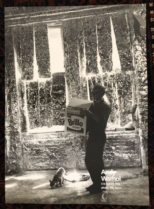 ANDY WARHOL A' LA FACTORY. Poster. (Andy Warhol Carrying a Brillo Box). Andy Warhol, Billy Name