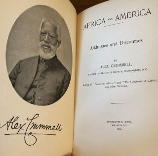 AFRICA AND AMERICA. Addresses and Discourses.