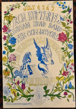 Rock Poster) IRON BUTTERFLY, INDIAN HEAD BAND, THE COLLECTORS and THE ELECTROLUMINECENSE at...