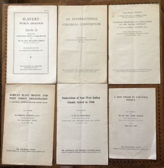 ANTI-SLAVERY AND ABORIGINES' PROTECTION SOCIETY, Various supplemental publications. 1932-1952....