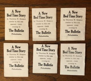 BED TIME STORIES. Group of six (of eight) Little Animal Books