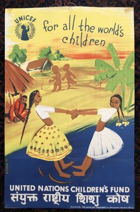 UNICEF, For All The World's Children (Original Vintage Poster). M. R. Daver