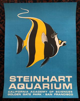 STEINHART AQUARIUM. California Academy of Science- Golden Gate Park (Original Vintage Poster