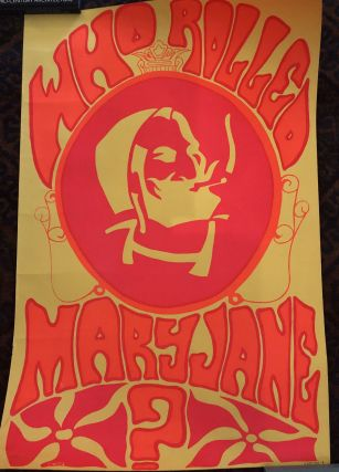 WHO ROLLED MARY JANE ? (Original Blacklight Poster