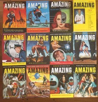 AMAZING STORIES. 1956. (Twelve issues, Complete year