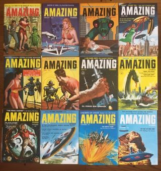 AMAZING STORIES. 1957. (Twelve issues, Complete year