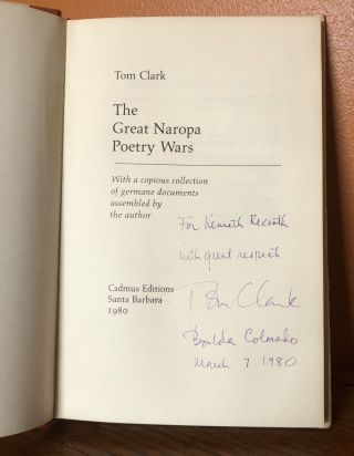 THE GREAT NAROPA POETRY WARS